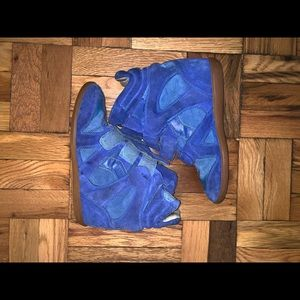 Isabel Marant Blue Sneaker Wedges